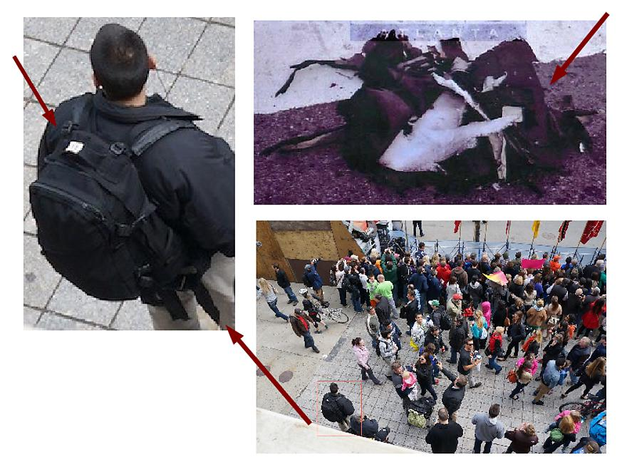 Bomb Resembles Black Backpack