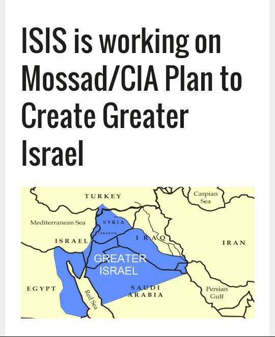 greater israel isis